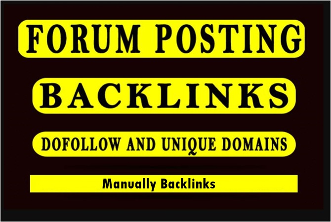 40 forum posting backlinks-manually create backlinks-high DA service