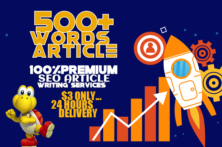 Write 500 Words SEO Optimized Article in 24 Hours