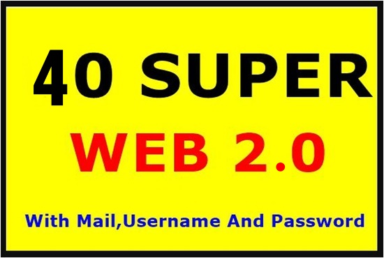 40 super high domain Authority web 2.0 Backlinks-Top service
