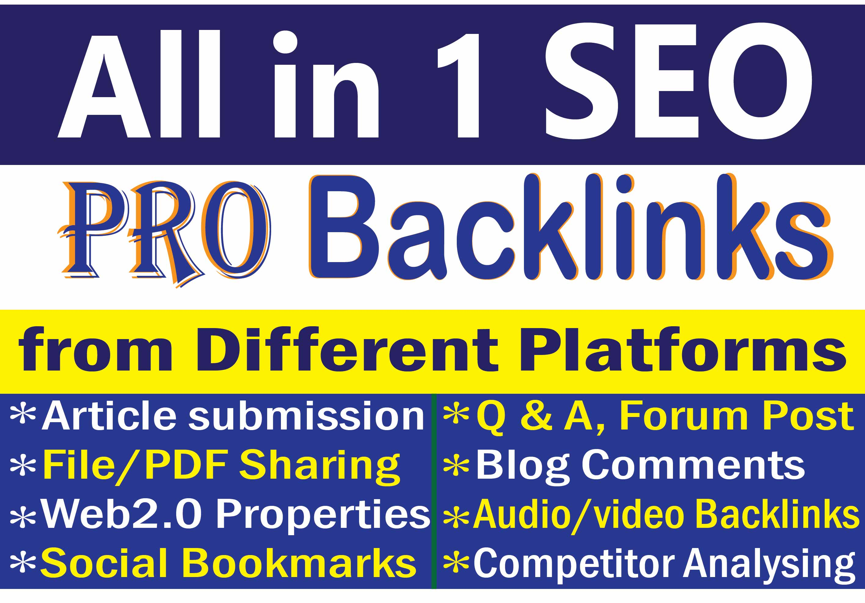 Get Quality Mix SEO Manual Backlinks to get google ranking and best improvement