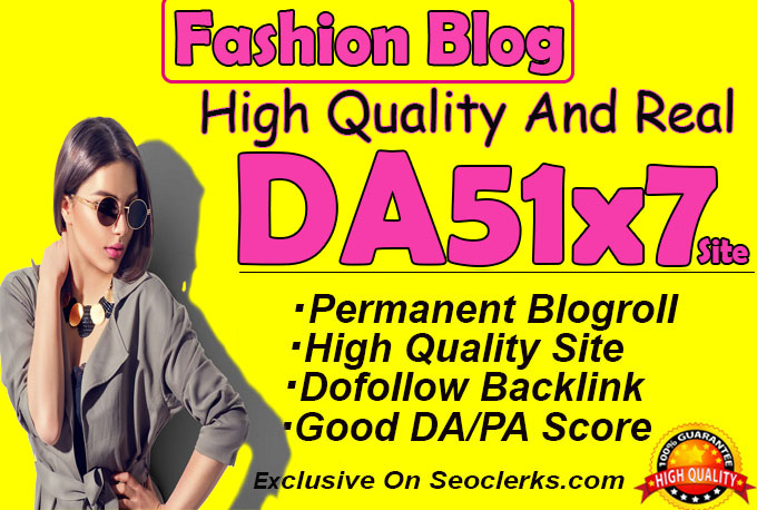 give backlink da51x7 site Fashion blogroll Permanent