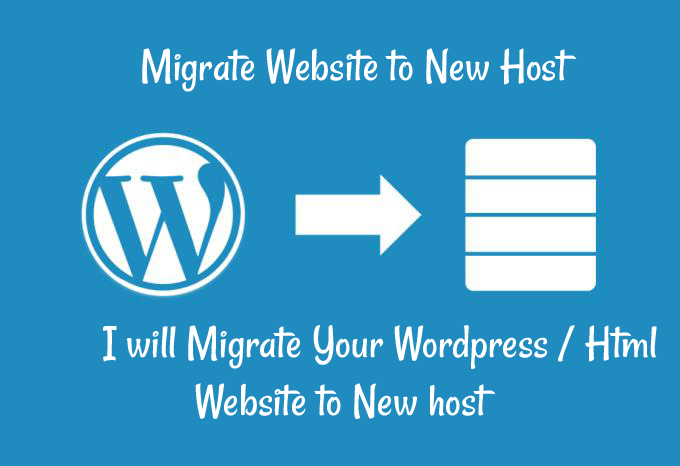 Move copy transfer migrate Wordpress or Html site to New Host/Hosting