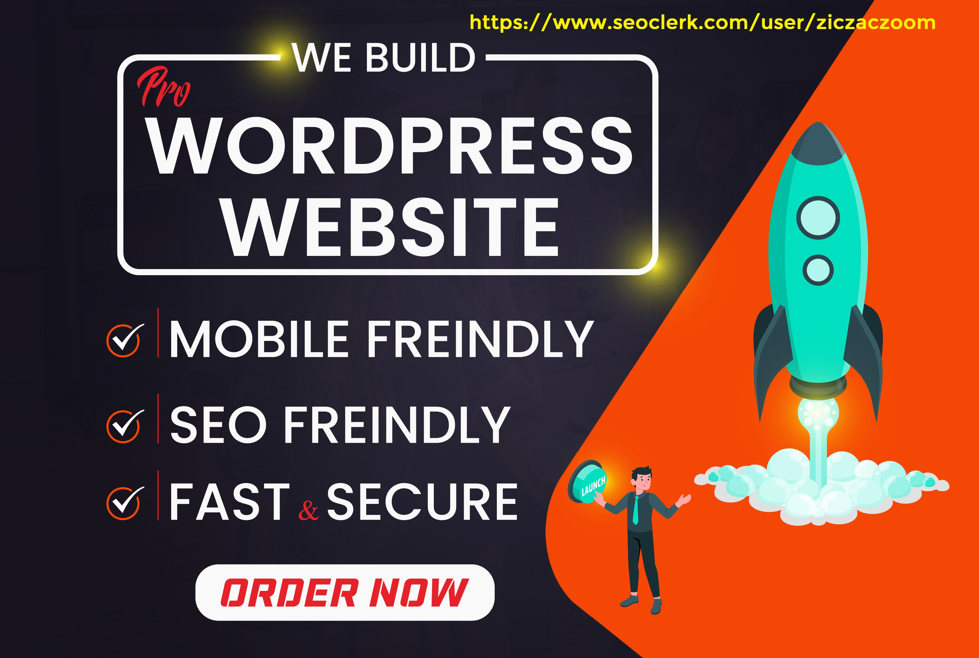 I will create an attractive wordpress site with amazing features 5 pages