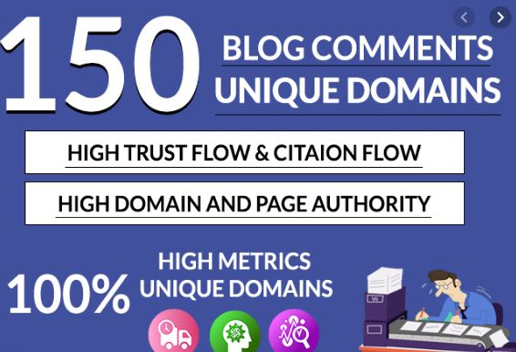 Provide 150 dofollow blog comments high authority backlinks