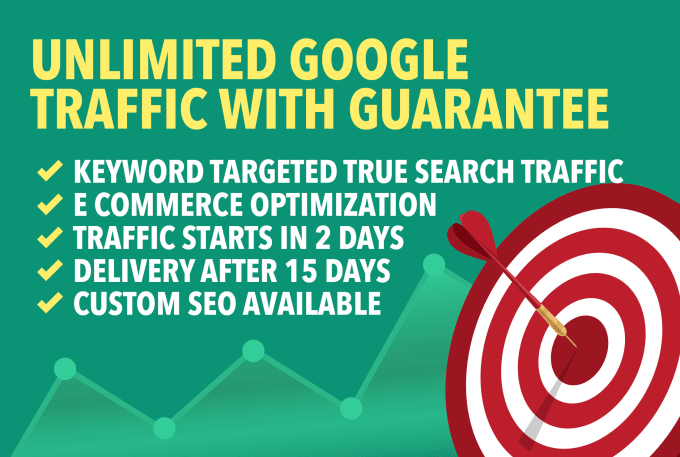 I will send unlimited google traffic with guarantee