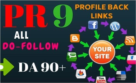 40+ PR9 Dofollow profile backlinks- All Dofollow profile Links