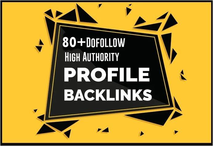 80+ PR9 Dofollow profile backlinks- All Dofollow profile Links