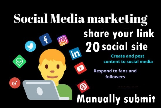 Share your Link Top 20 social media-Top website marketing service in seoclerk