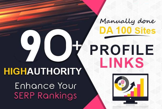 90+ High PR profile backlinks-high DA PA backlinks-Top service