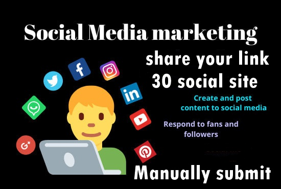 Share your Link Top 30 social media-Top website marketing service in seoclerk