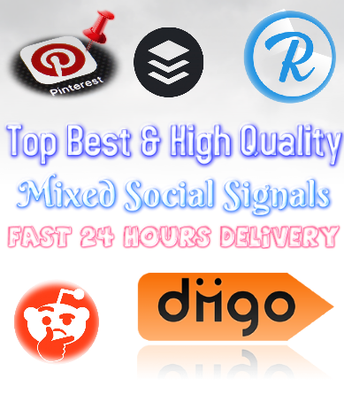 Best High Quality Mixed Social Signals Top 5 Website Bookmarks Important Google Ranking Factors