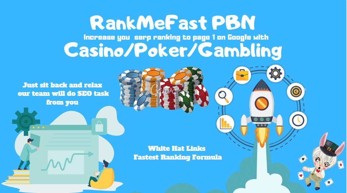 RankMeFast PBN Casino/Poker/Gambling