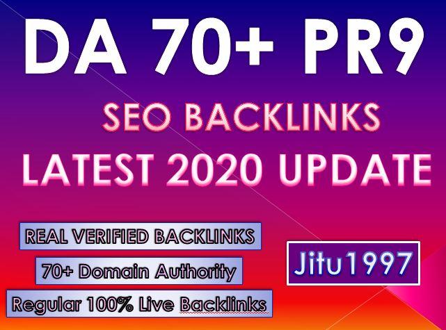 30 DA70+ PR9 High DA Backlinks