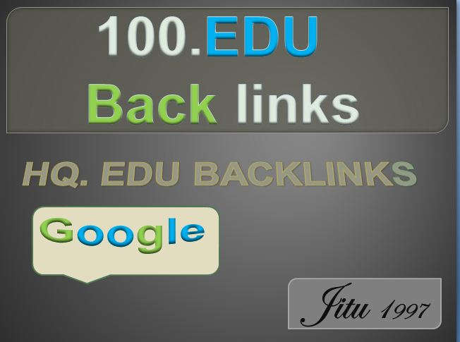 100 High Quality Build. Edu backlink