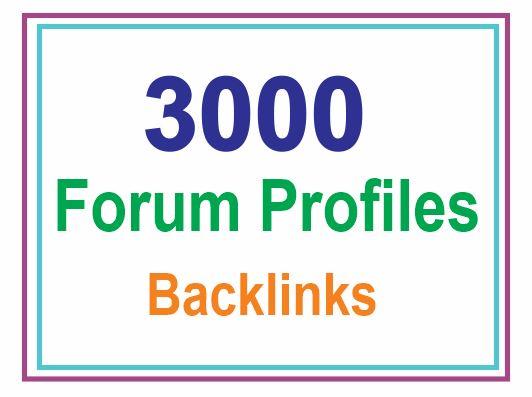 I will Provide 3000 Forum Profiles Backlinks