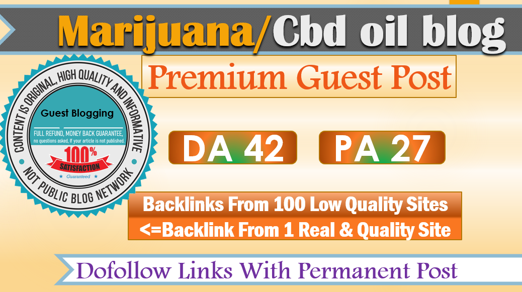 Place A Guest P0st on CBD Oil Related High-Authority Website With D0f0ll0w