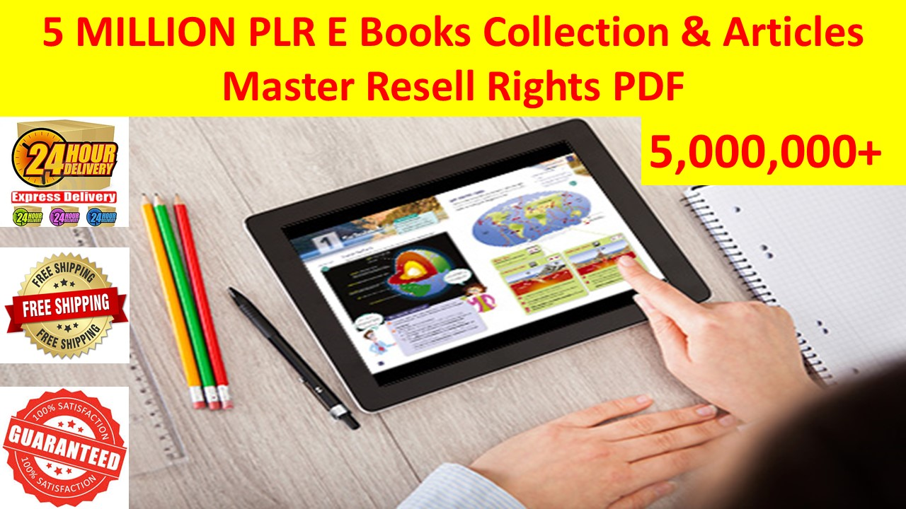 5,000,000 PLR articles collection over 1000 niches Amazing price +Bonus