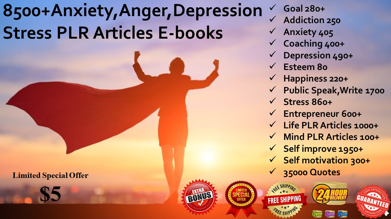 8500 anxiety anger depression stress articles ebooks