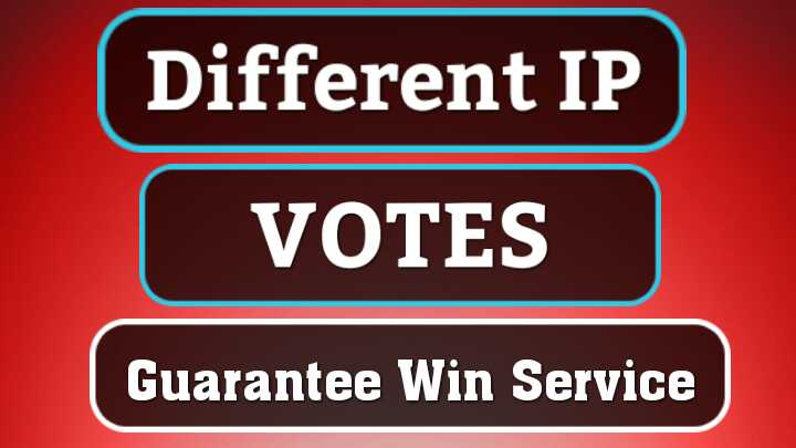 SUPER FAST-250 DIFFERENT IP Votes For Any Online Contest Polls