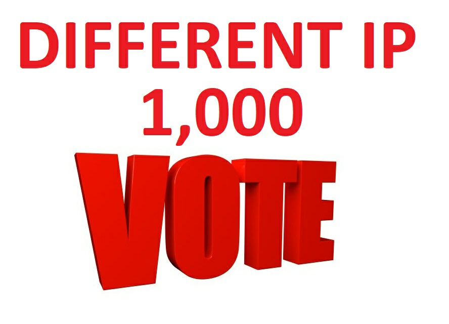 Best Provide 1000 different ip votes from unique ip address any Contest poll