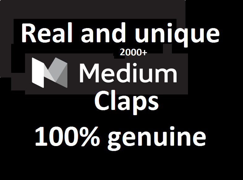 Provided You 2000+ Medium article post claps