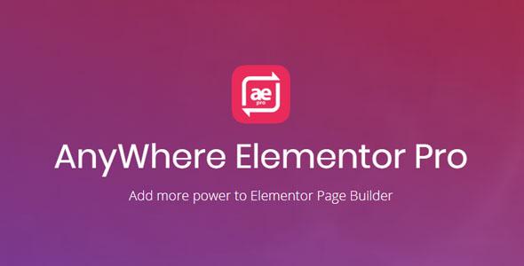 Elementor Pro WordPress +Anywhere Elementor