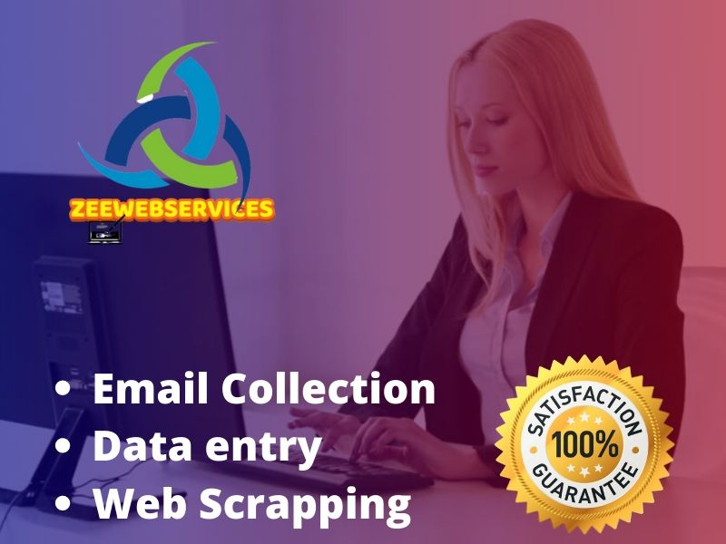 do web scraping,  email collection and data entry work