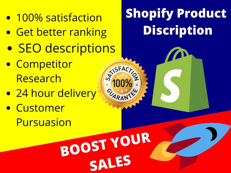 write unique and persuasive shopify product descriptions that sell