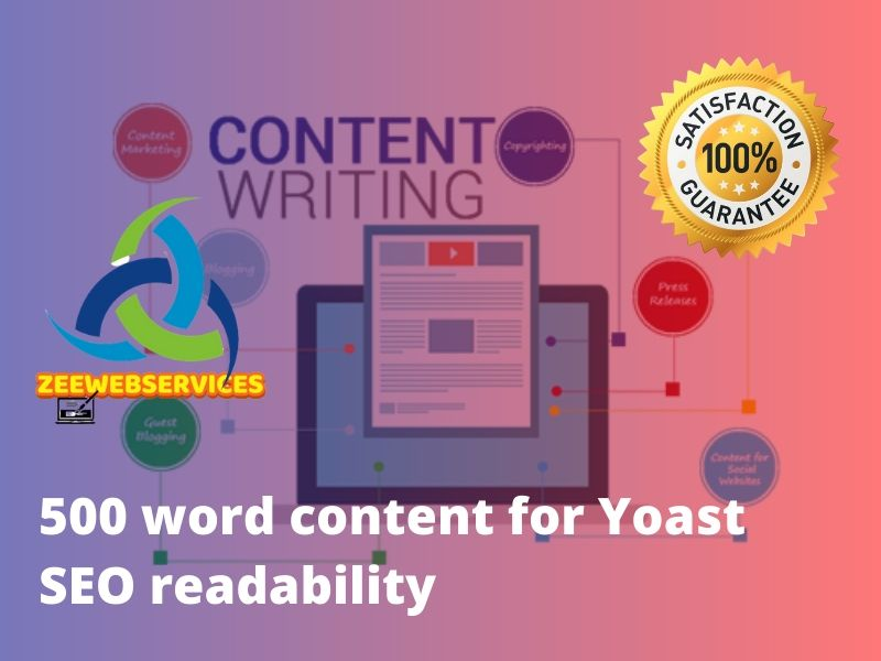 500 words orignal seo content with yoast SEO readability