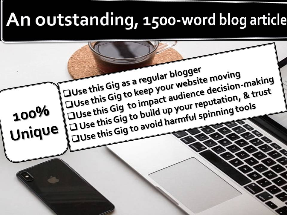 1500-word outstanding blog article on any subject