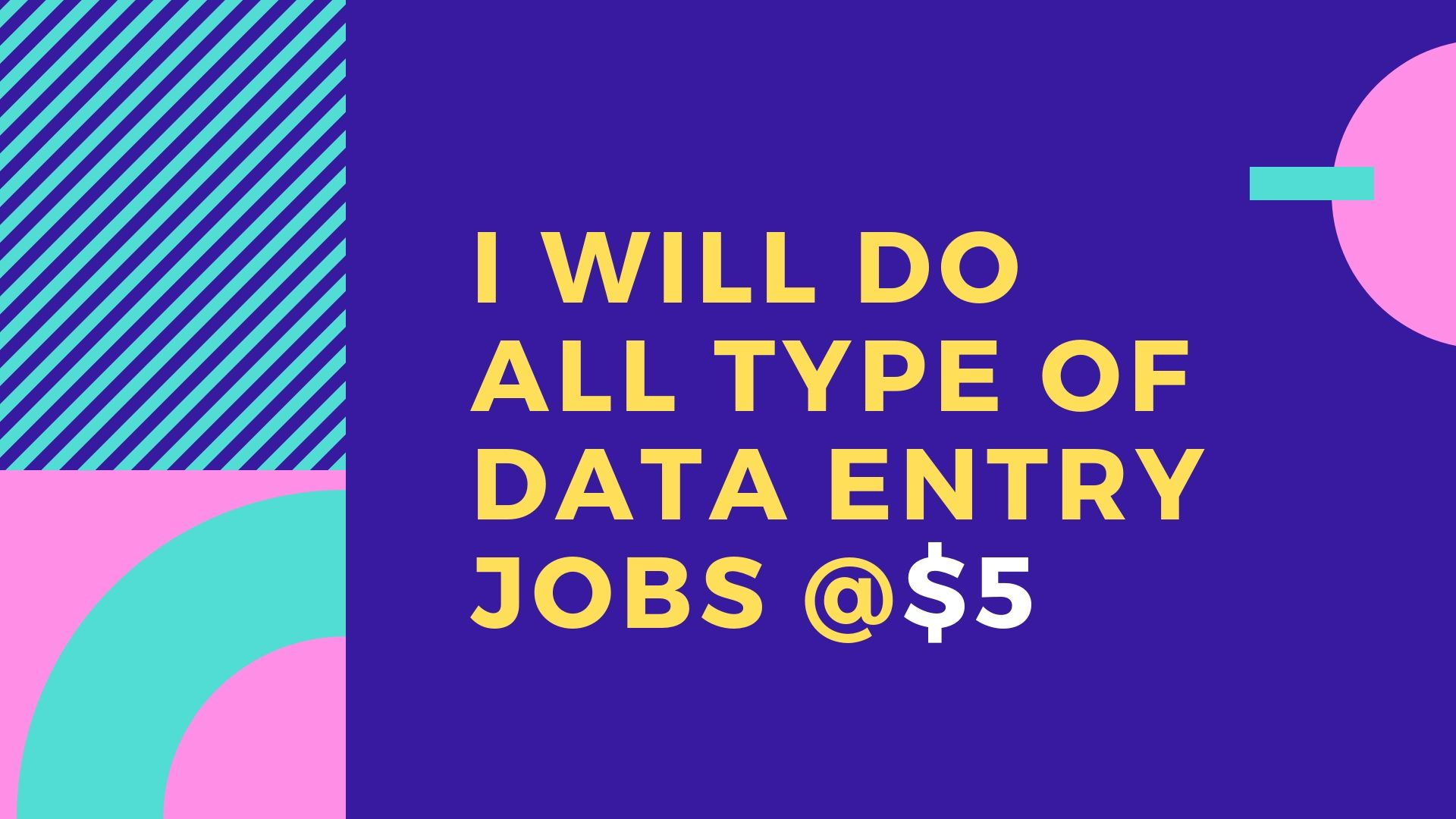All type of data entry and copy typing work