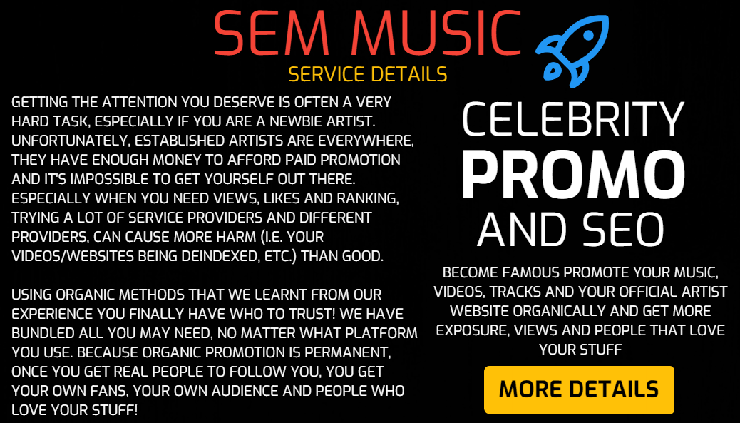 SEM Music - Promote Your Music,  Videos,  Tracks and Your Official Artist Website