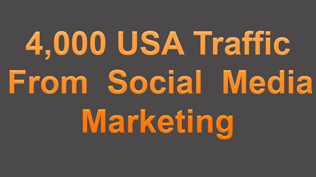 4,000 USA Traffic From Social Media Marketing