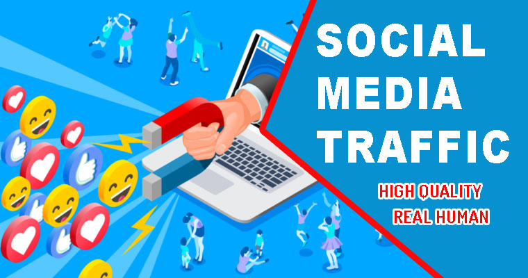7 DAYS Unlimiited High Quality Social media traffic with real visitors