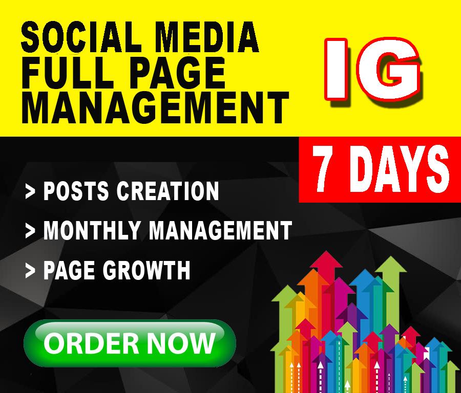 7 days social media management