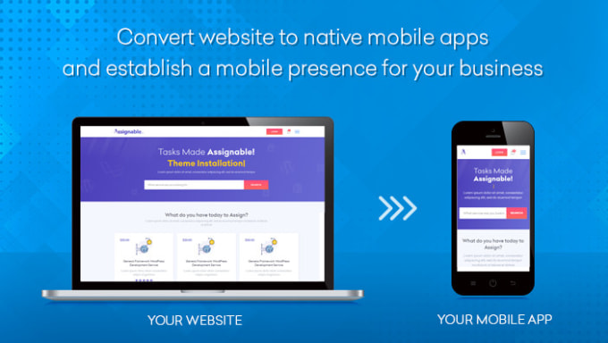 Convert your website to android apps