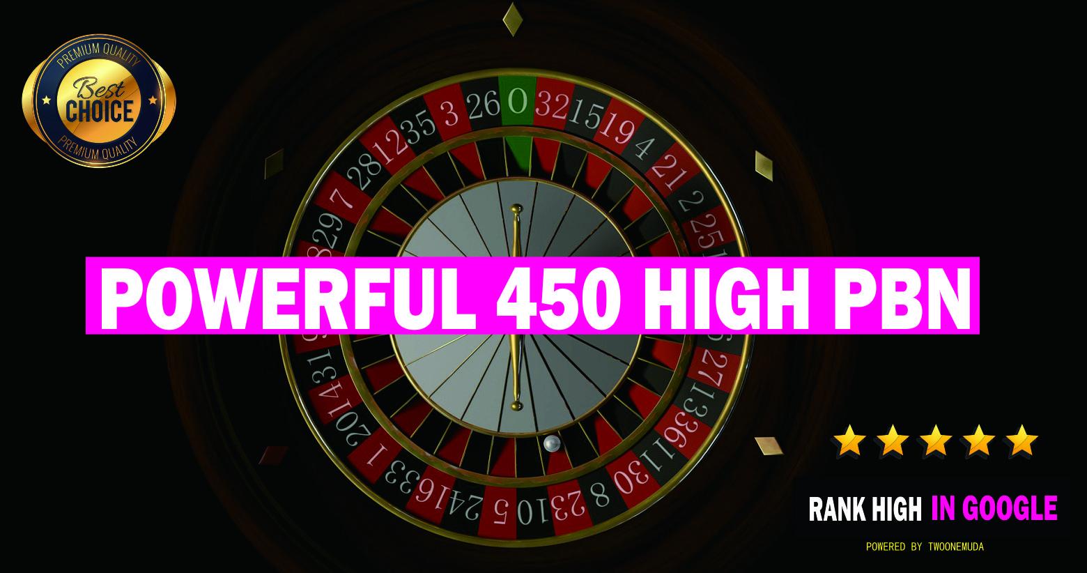 450 Powerful PBN Backlinks For Gambling Casino Betting Website