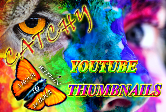 I will design attractive catchy youtube thumbnails