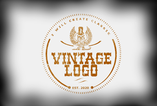 I will create a classic awesome retro,  vintage logo