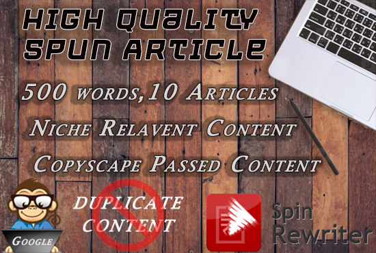 write high quality spun article,  500 words 15 Articles