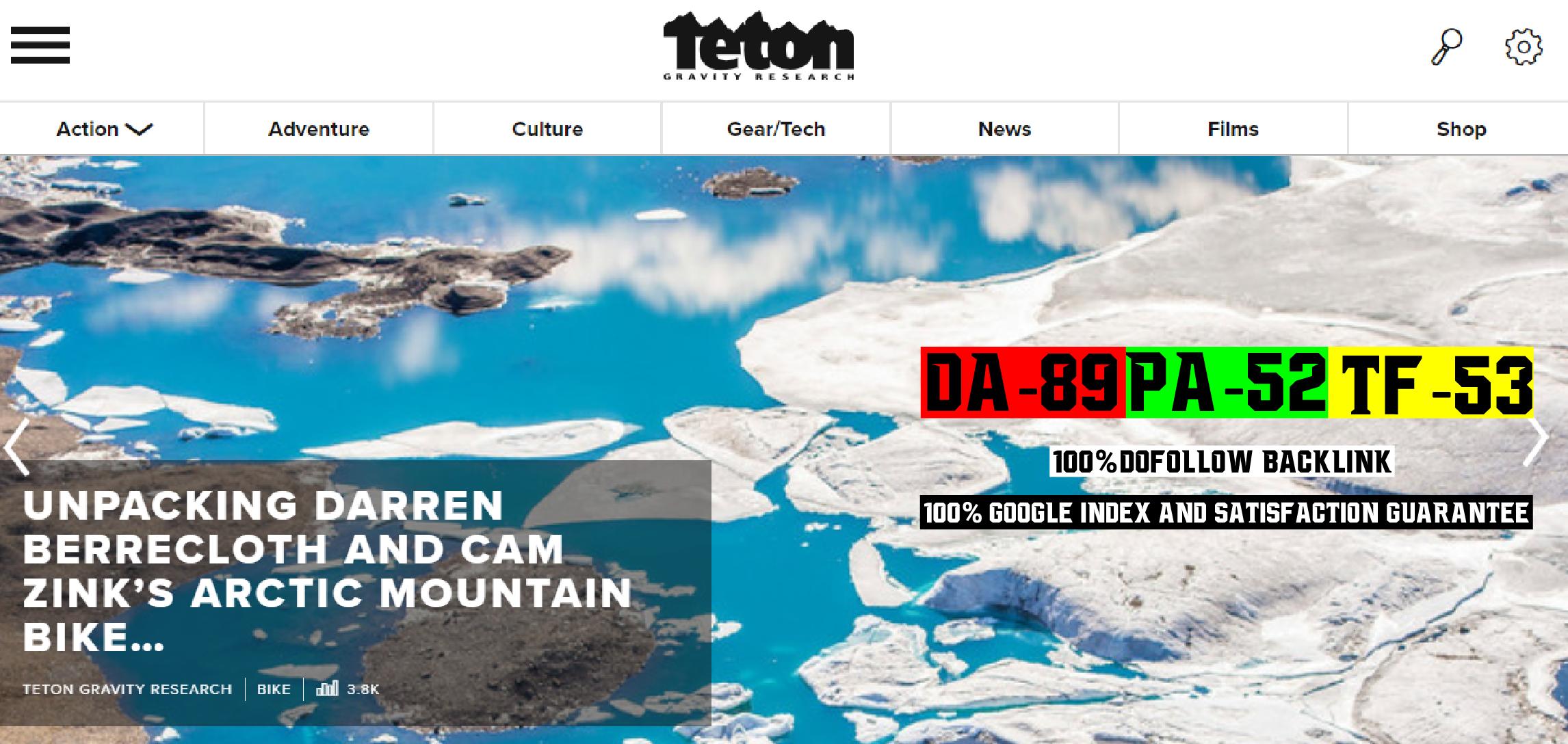Premium Guest Posting Service On My Sport Blog Tetongravity. com DA89