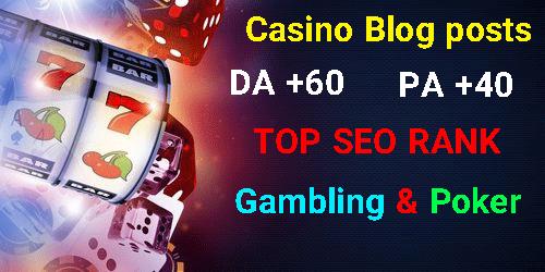 10 CASINO/GAMBLING/POKER Blogger PBN BLOG POST