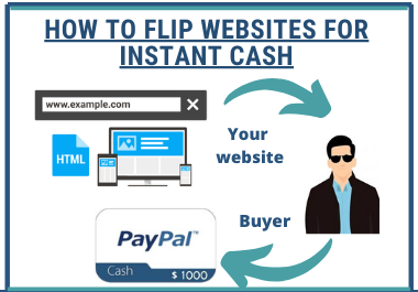 How to Flip Websites for Instant Cash 500 to 2000 profit