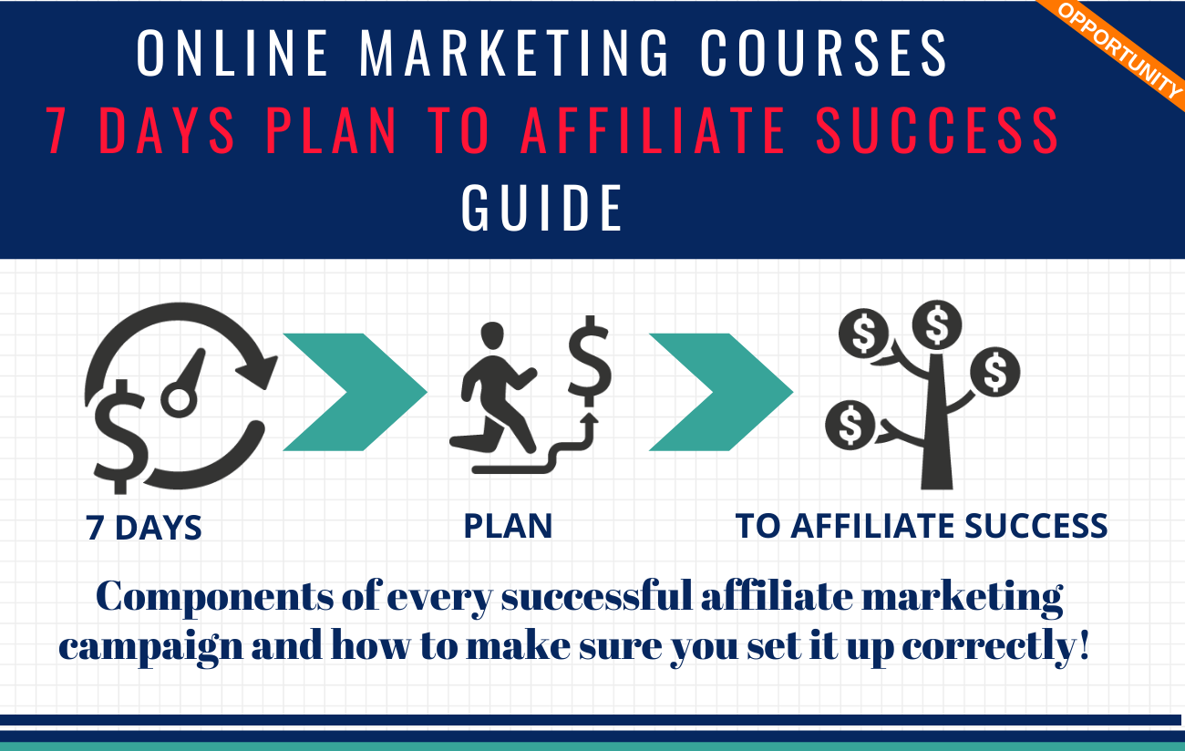 Online Marketing Courses 7 Days Plan to Affiliate Success Guide