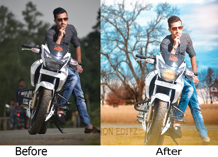 Photo Retouching and Background Changing Manipulation