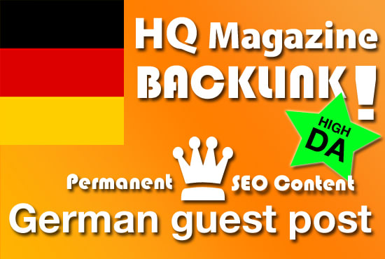 2 x German Guest Post on DA37 & DA27 Websites with your Backlink