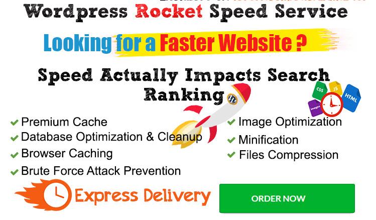 Increase WordPress speed and speed up WordPress website or speed optimization
