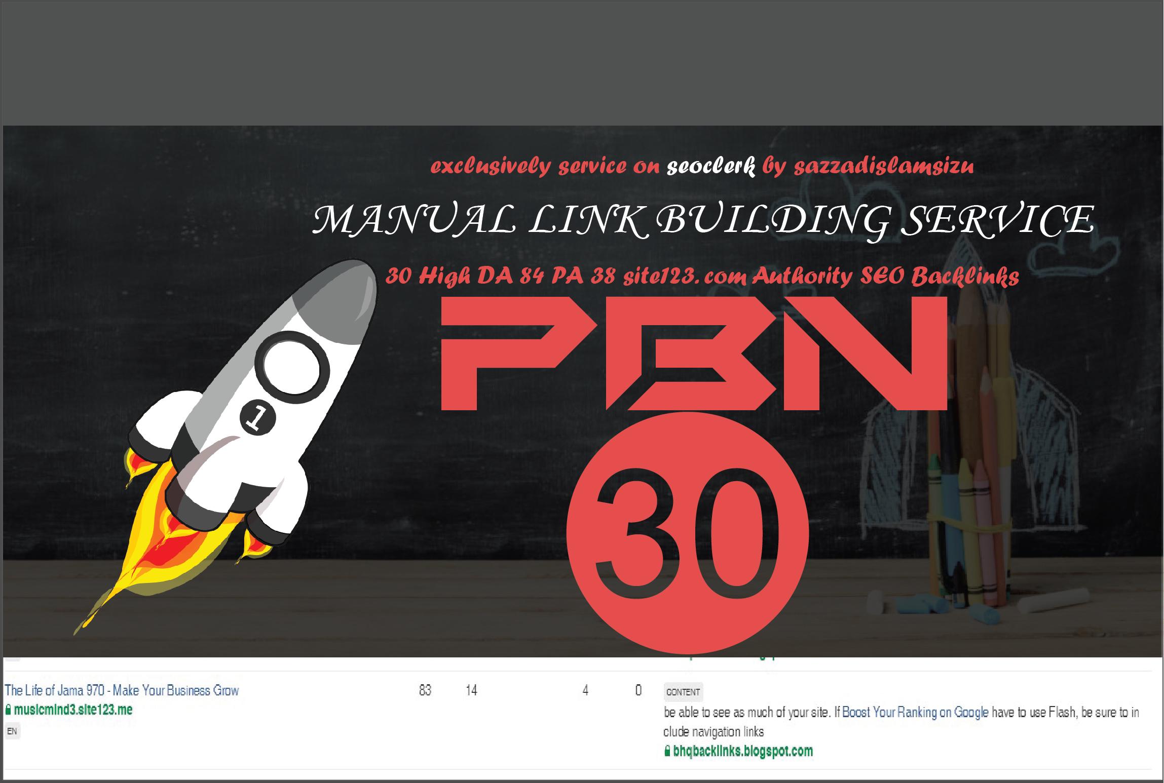 30 High DA 84 PA 38 site123. com Authority SEO Backlinks