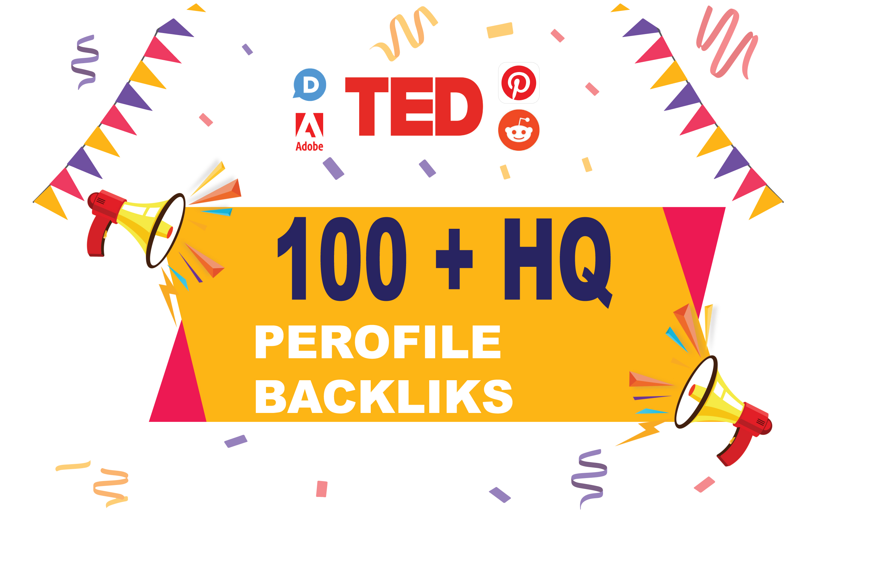I will do manually 100 hq profile backlinks for website seo