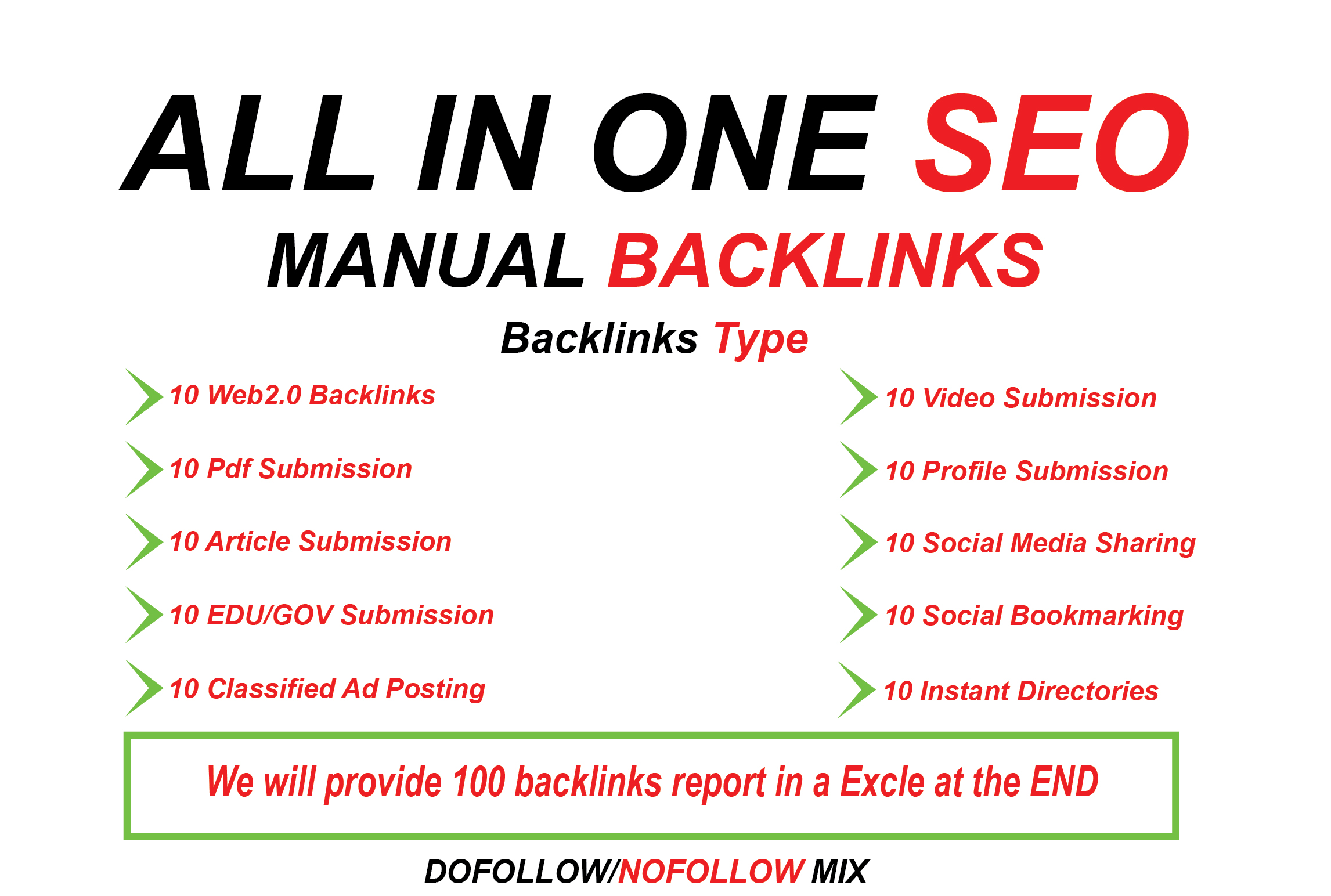 All In One Manual SEO Premium Link Building Service